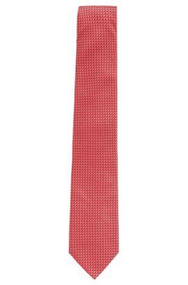 Corbata de seda estampada: 'Tie 7,5cm', Rojo