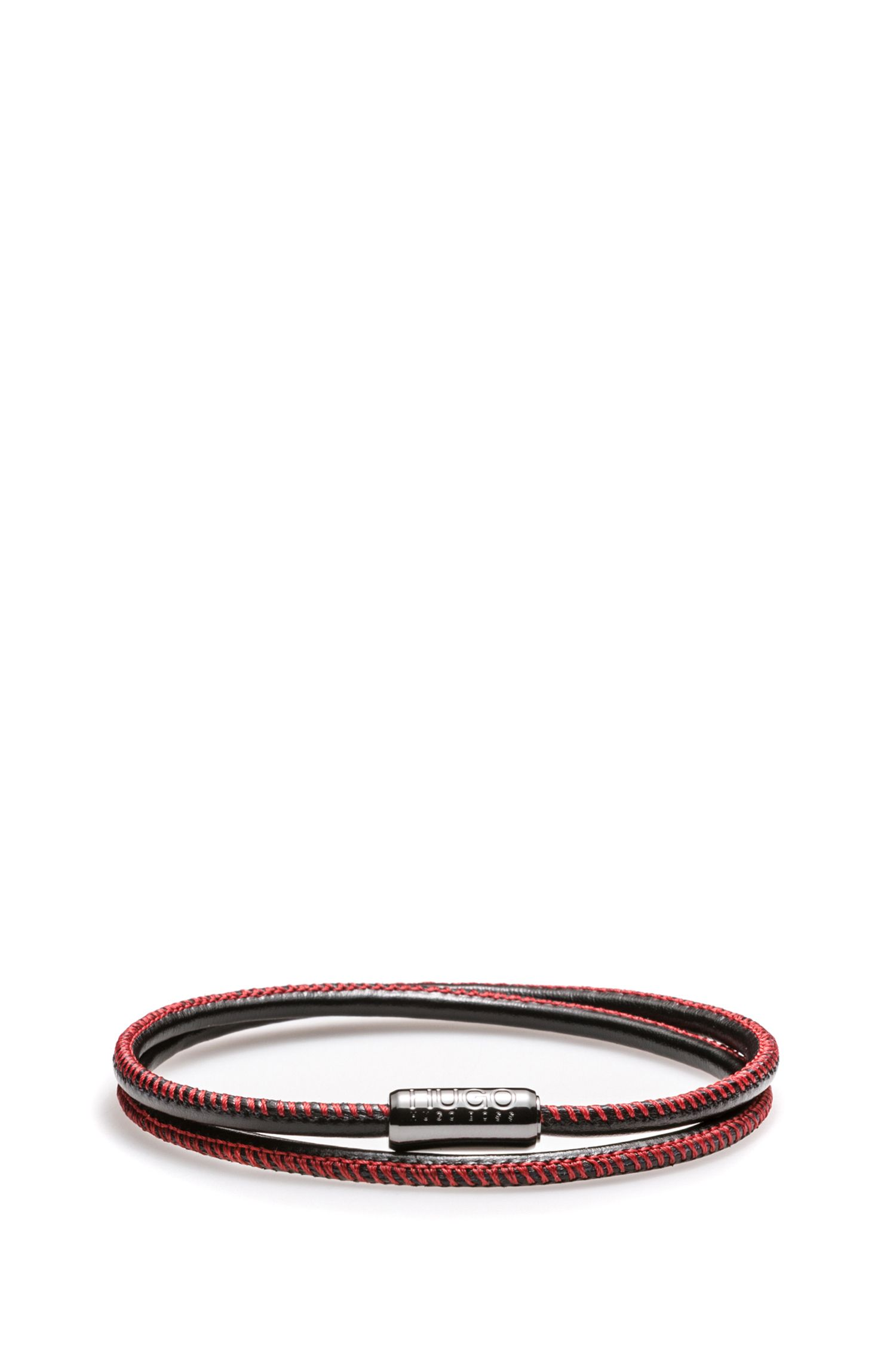 Italian calf-leather bracelet with magnetic closure