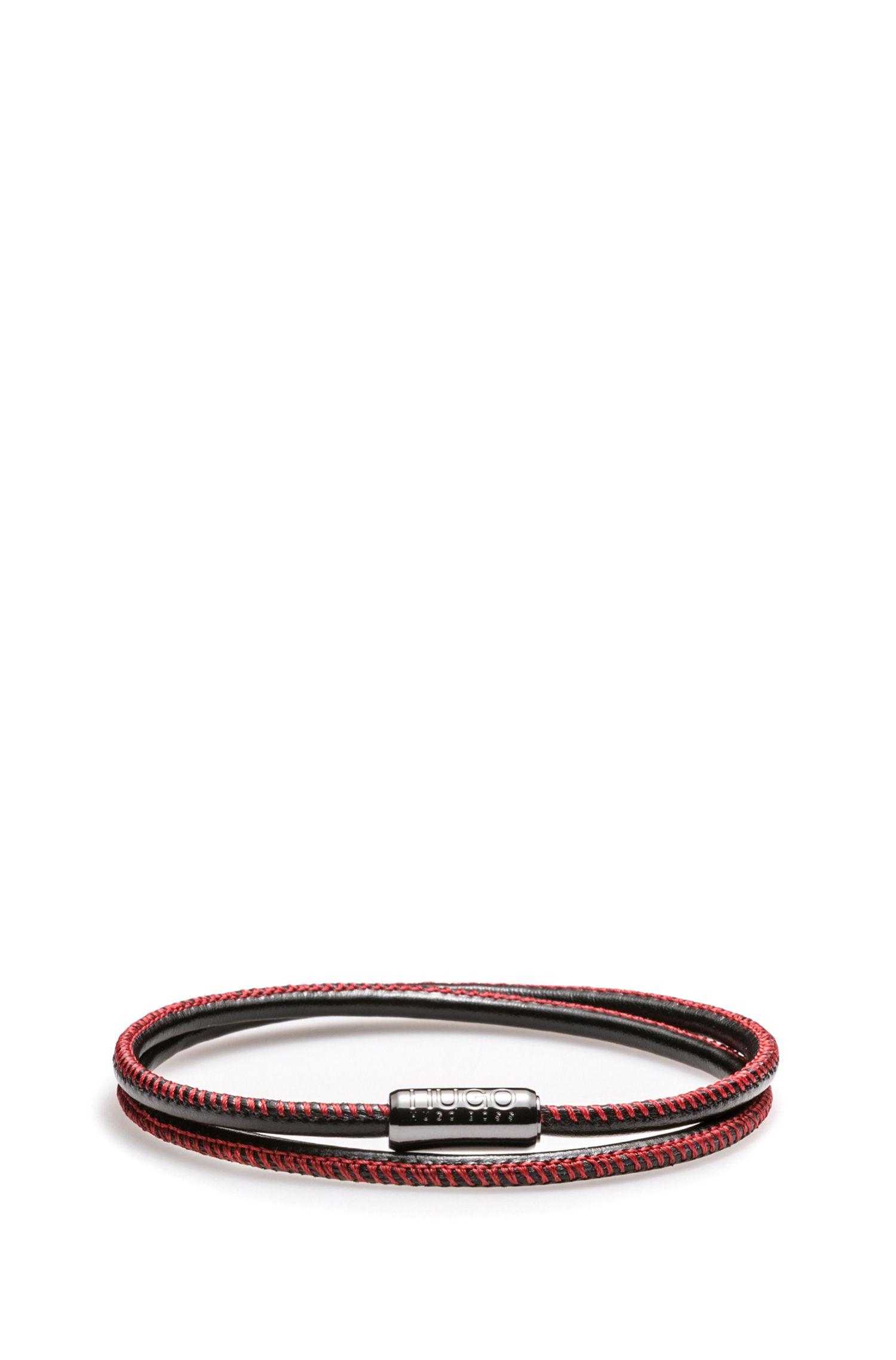 Armband aus italienischem Leder mit magnetischem Druckknopf