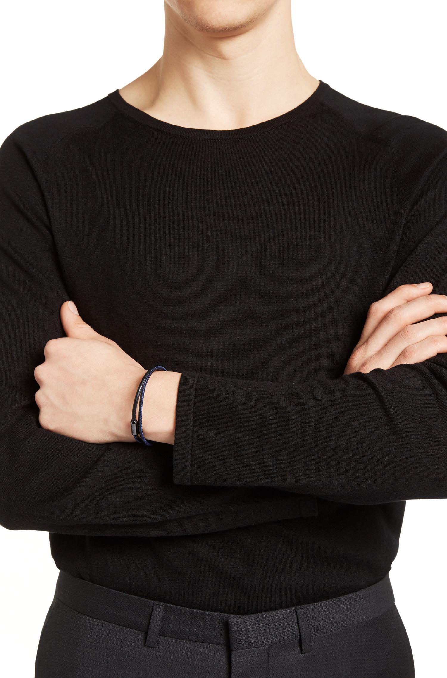 Pulsera de piel de becerro italiana con cierre magnético