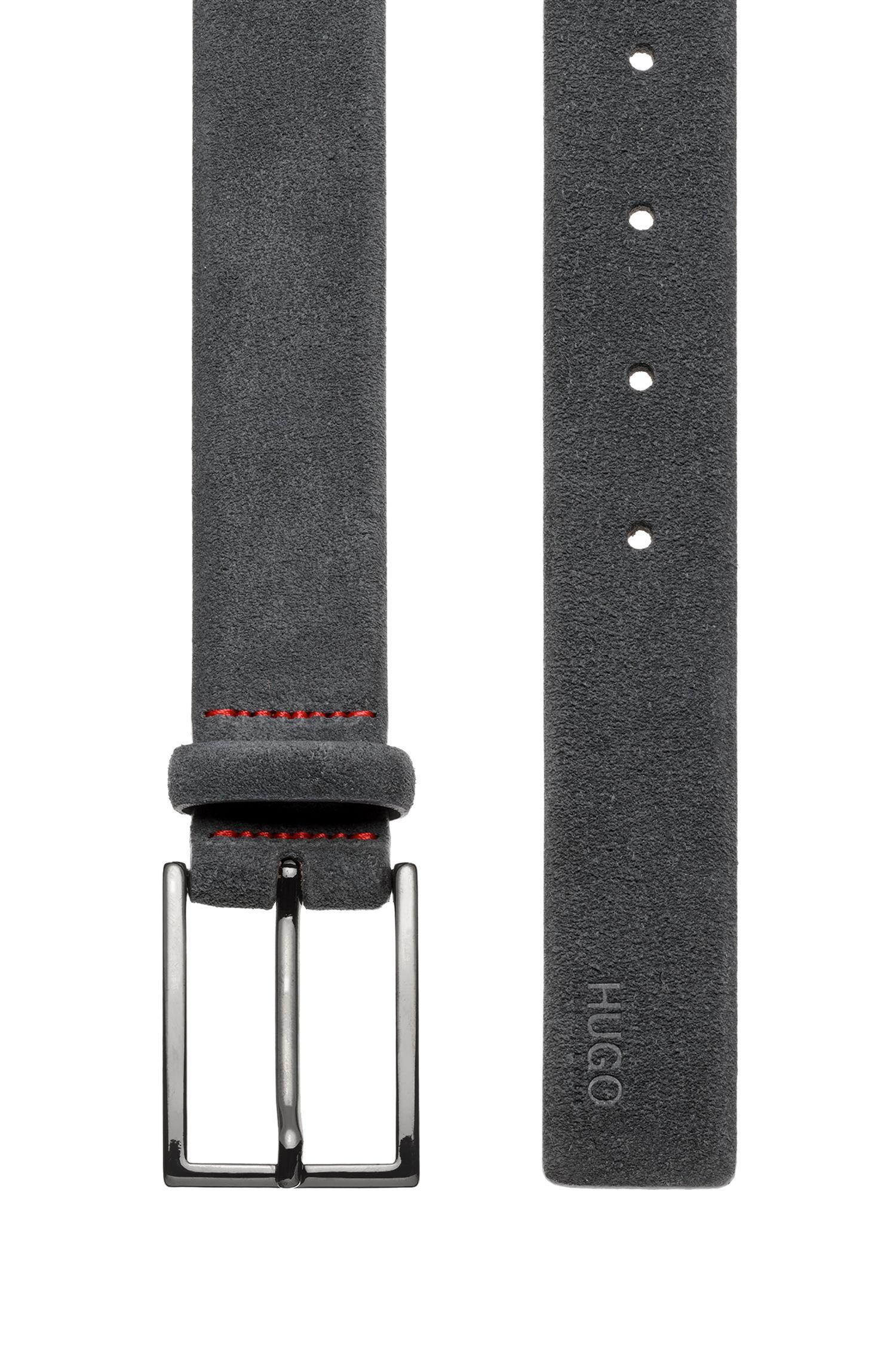 Gürtel aus Veloursleder mit charakteristischen Naht-Details
