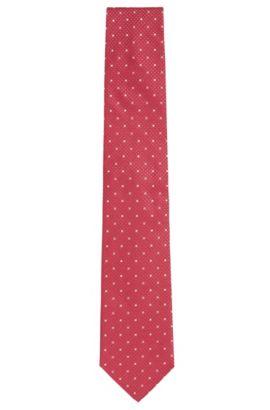 Fein gemusterte Krawatte aus Seide: 'Tie 7,5 cm', Pink