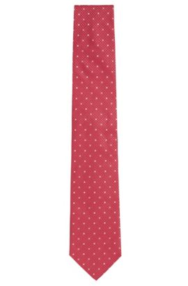 Finely patterned silk tie: 'Tie 7.5cm', Pink