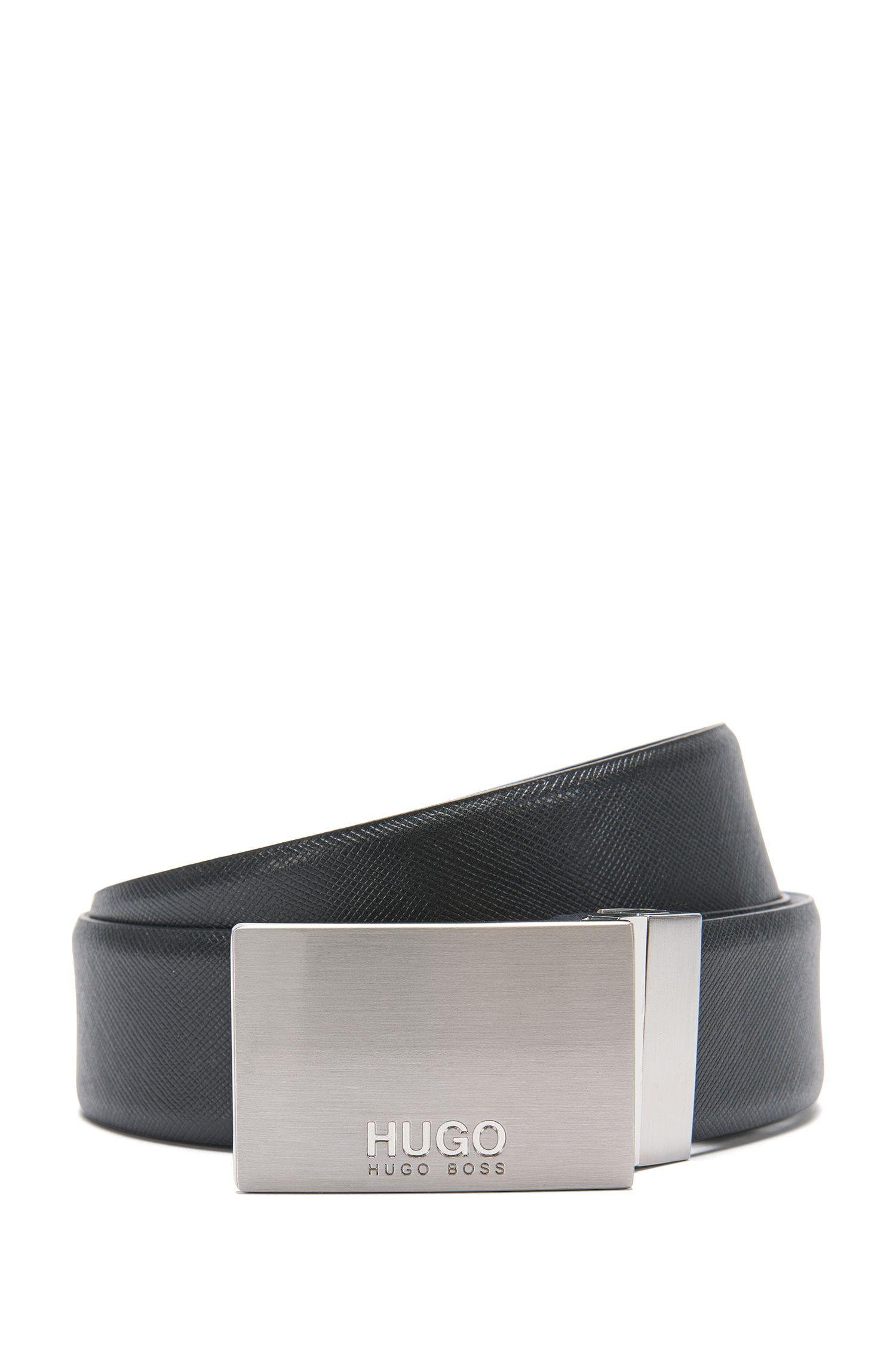 Cintura in pelle con venature: 'Guido_Or35_ps'