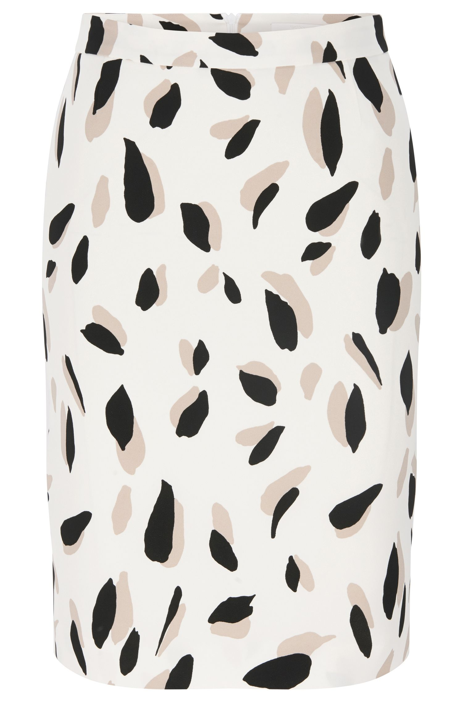 Patterned pencil skirt in stretch viscose: 'Vimena'