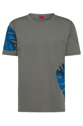 Relaxed-Fit T-Shirt aus Baumwolle: 'Deves', Dunkelgrau