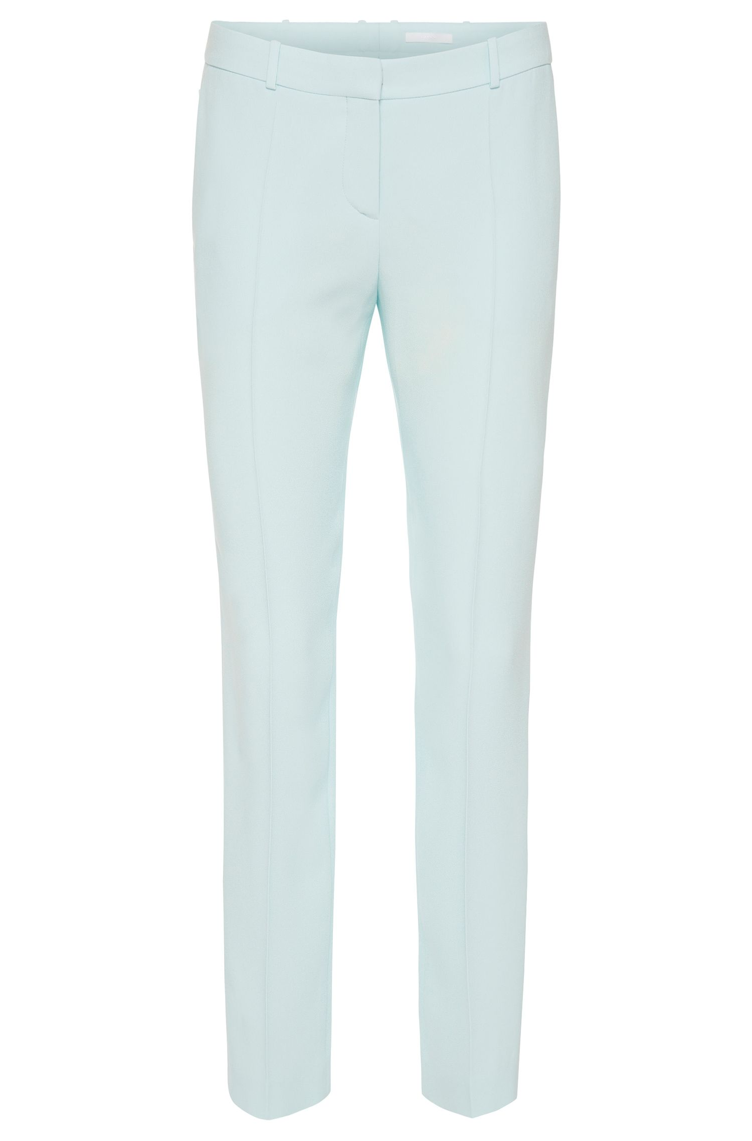 Plain regular-fit trousers with pressed creases: 'Tiluna7'