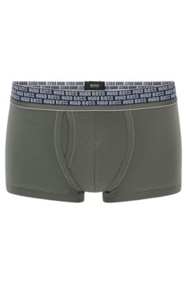 Boxer shorts in stretch cotton blend with modal: 'Trunk Comfort', Dark Green