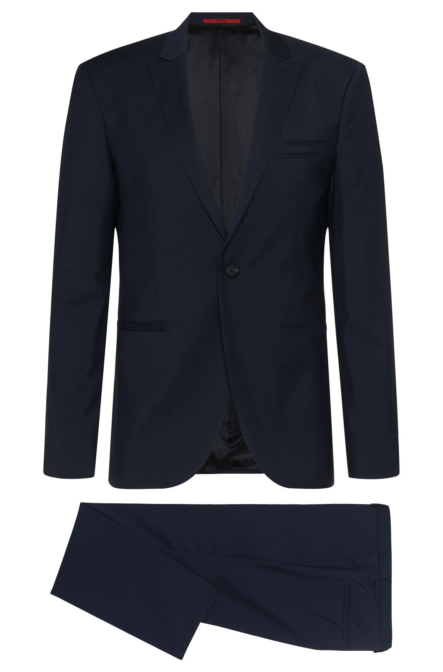 Finely striped slim-fit suit in new wool: 'Auert/Himyn'