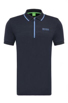 Polo regular fit in misto cotone: 'Pronghorn Pro', Blu scuro