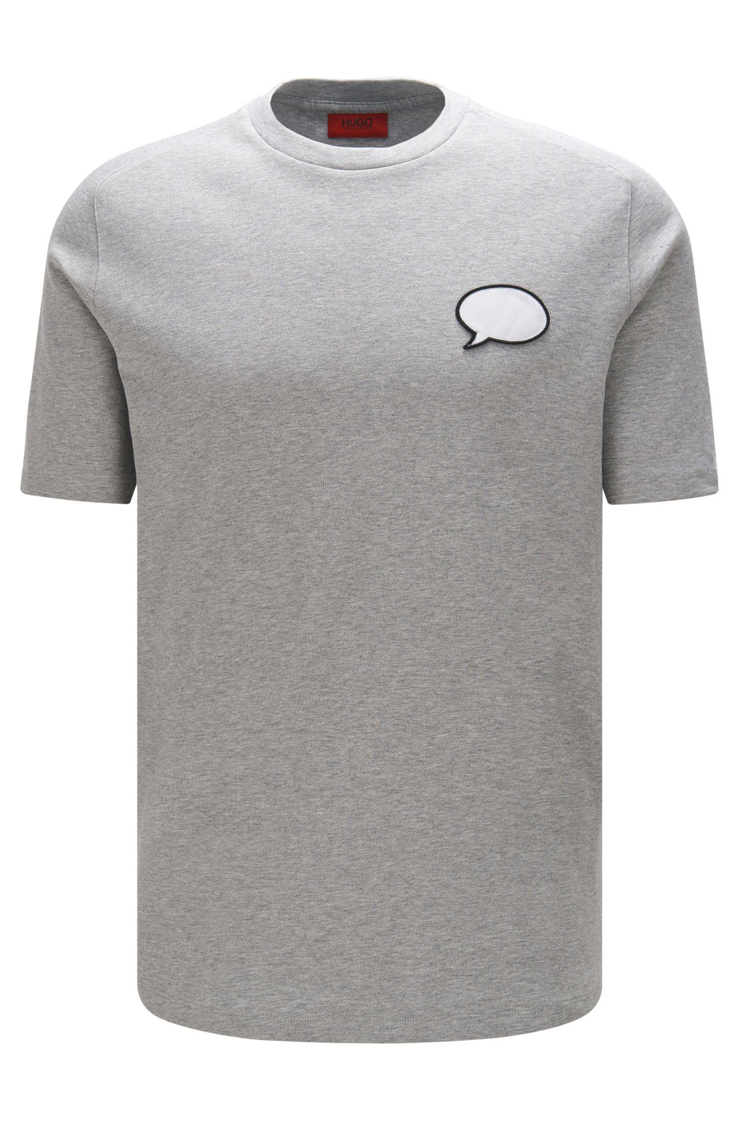 Regular-fit short-sleeved sweatshirt in cotton: 'Denlo'
