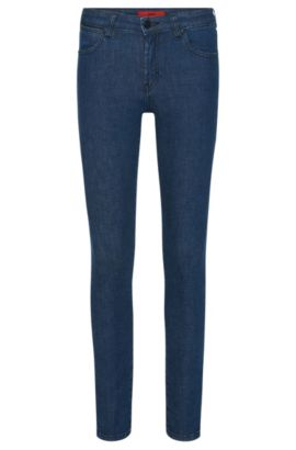 Slim-fit jeans in stretch-cotton blend: 'Genty', Blue