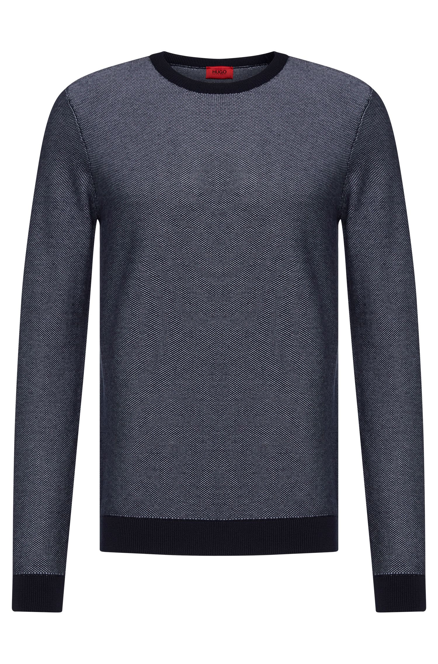 Finely patterned relaxed-fit sweater in cotton: 'Sarmon'