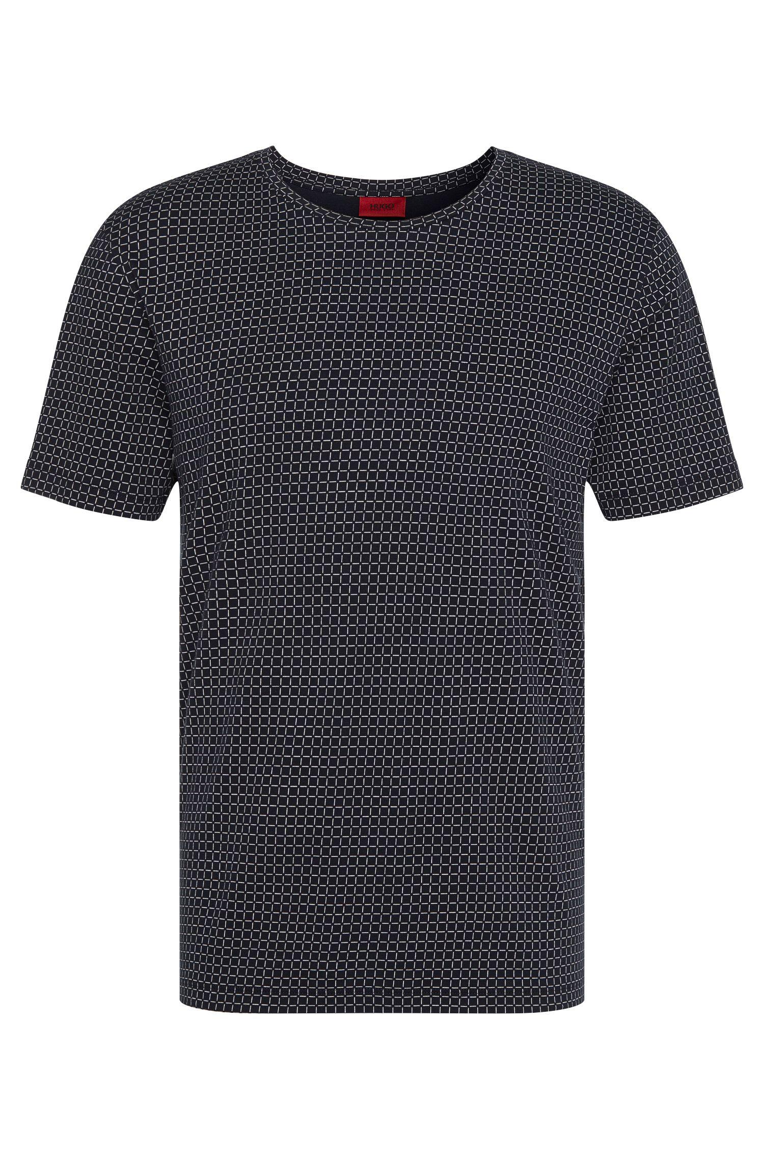 Camiseta relaxed fit estampada en algodón: 'Drid'