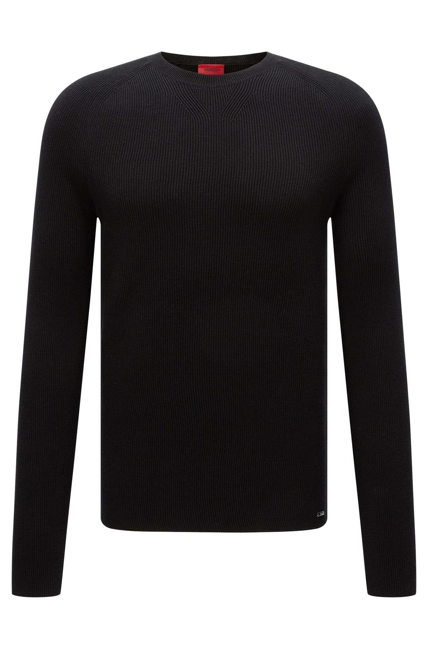 Strukturierter Slim-Fit Pullover aus Baumwolle: 'Slopon'