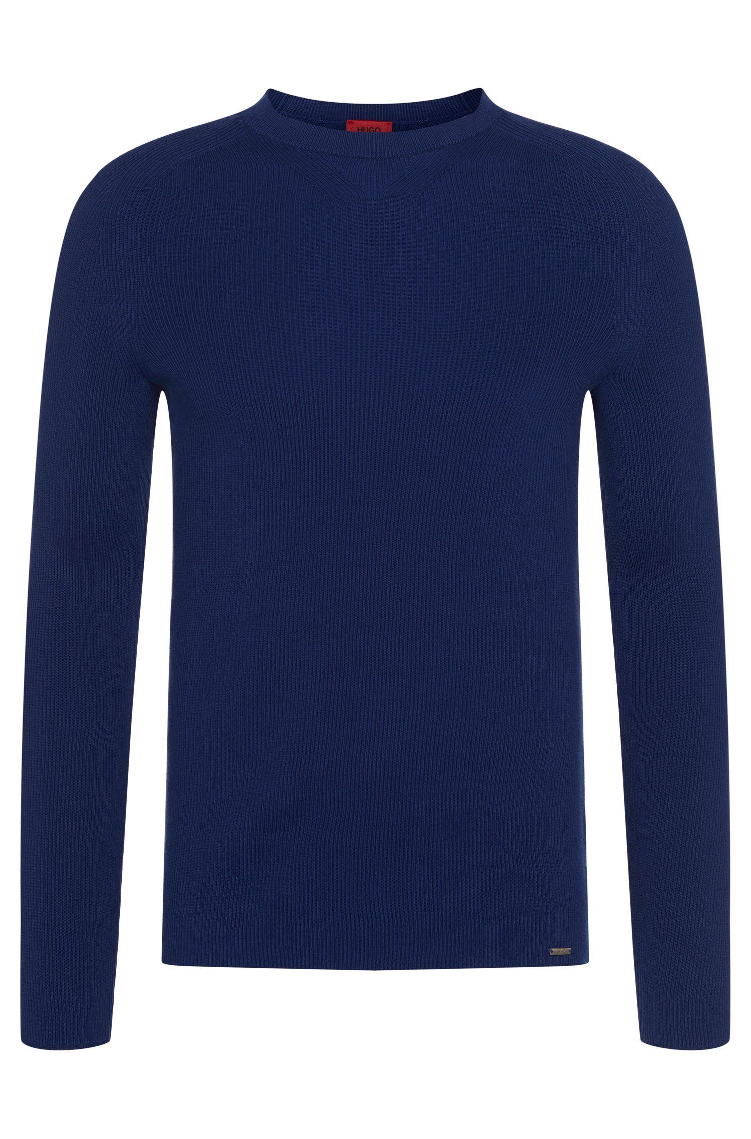 Gestructureerde slim-fit trui van katoen: 'Slopon'