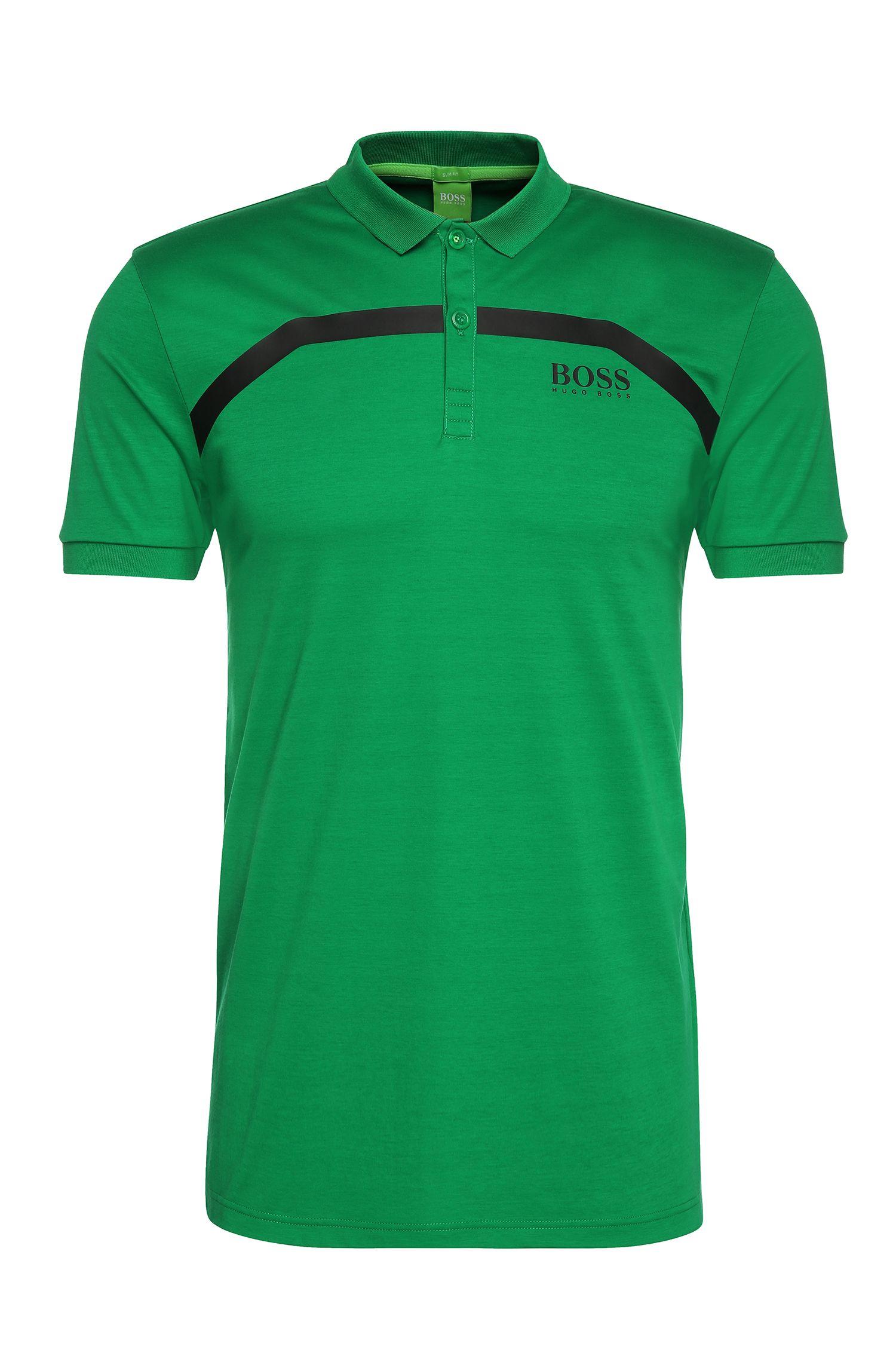 Slim-Fit Polo aus Baumwolle mit Streifen: ´Paule Pro 1`