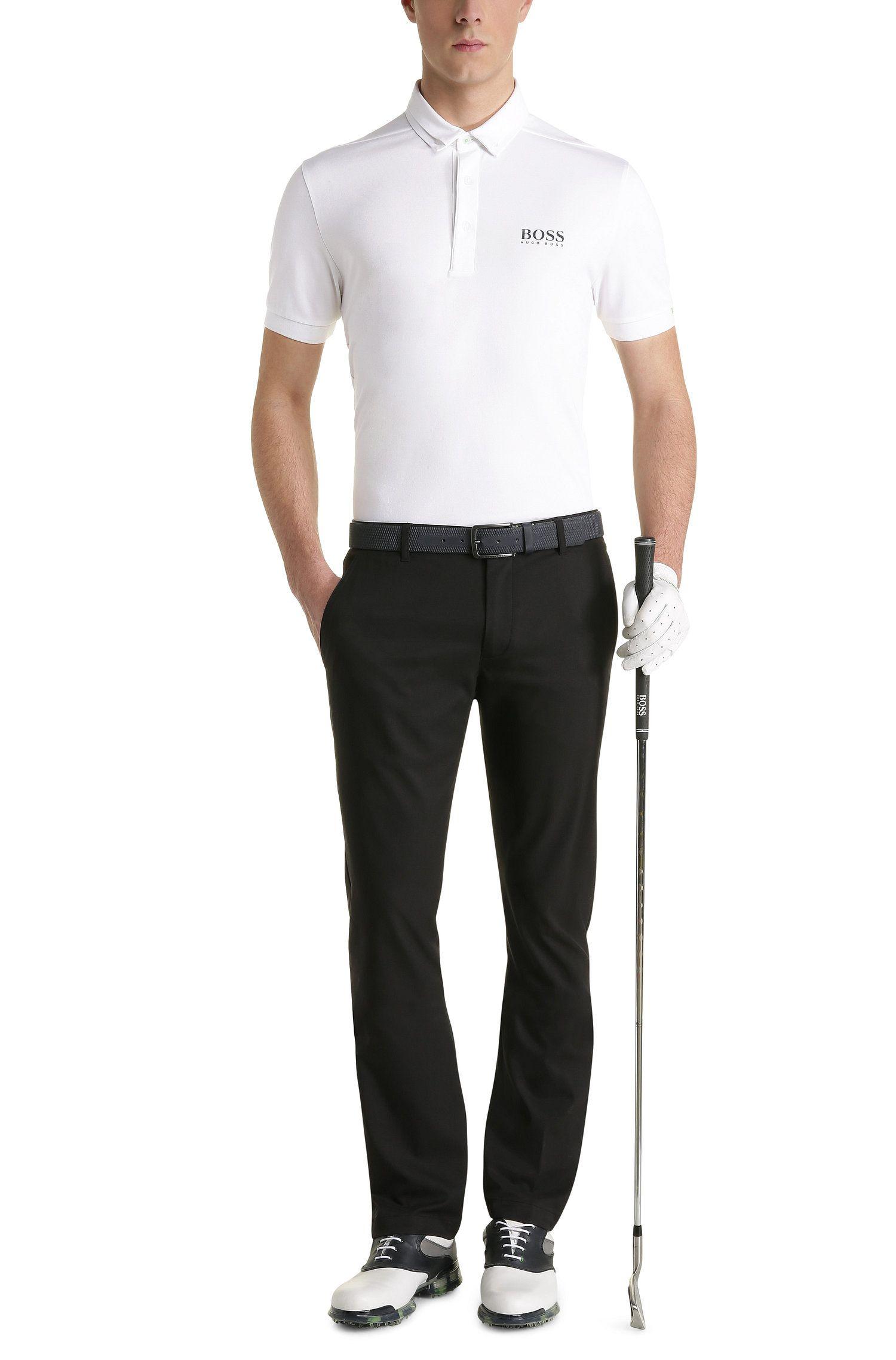Polo regular fit in misto cotone elasticizzato: 'Paddy MK', Bianco