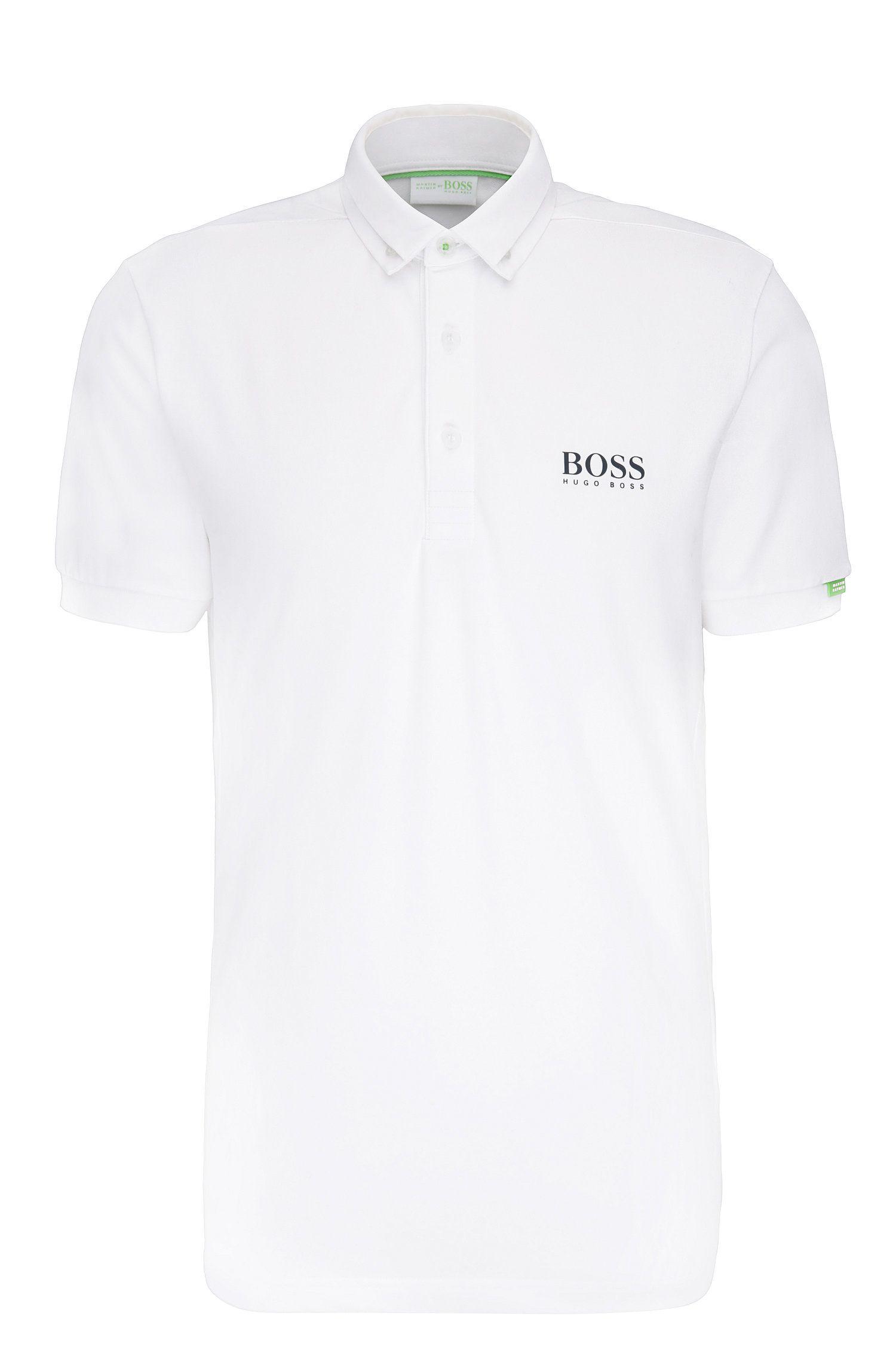 Regular-Fit Poloshirt aus elastischem Baumwoll-Mix: ´Paddy MK`