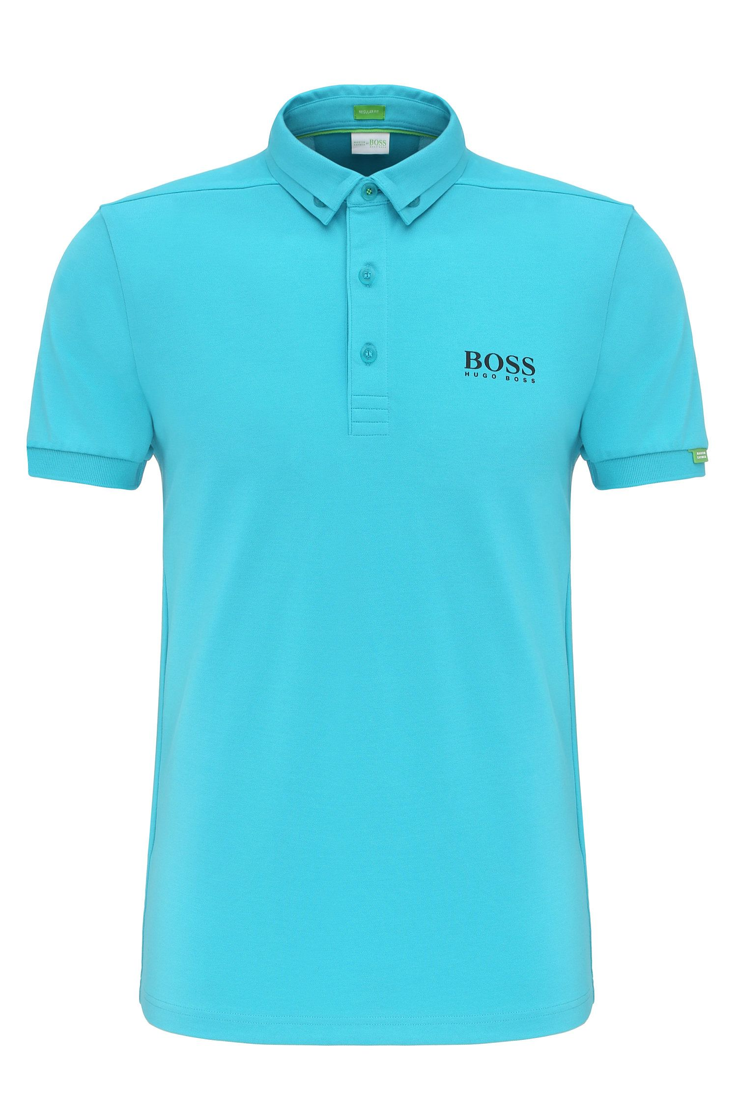 Polo Regular Fit en coton mélangé extensible : « Paddy MK »
