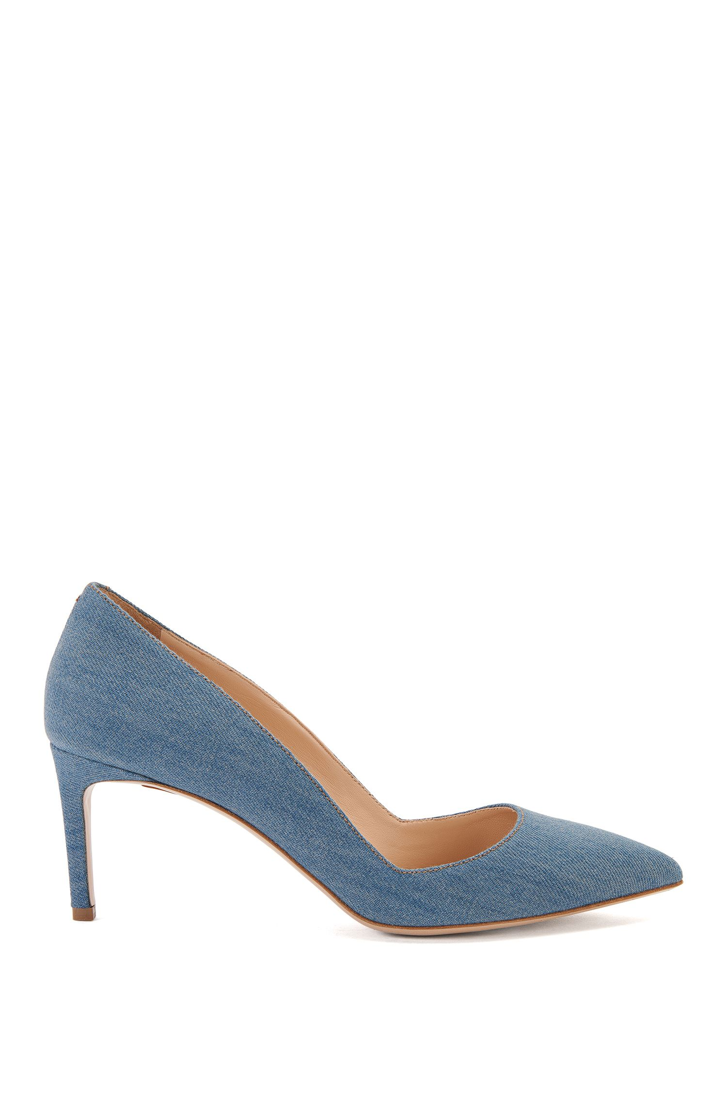Pumps aus Baumwolle in Denim-Optik: 'Hellia-D'