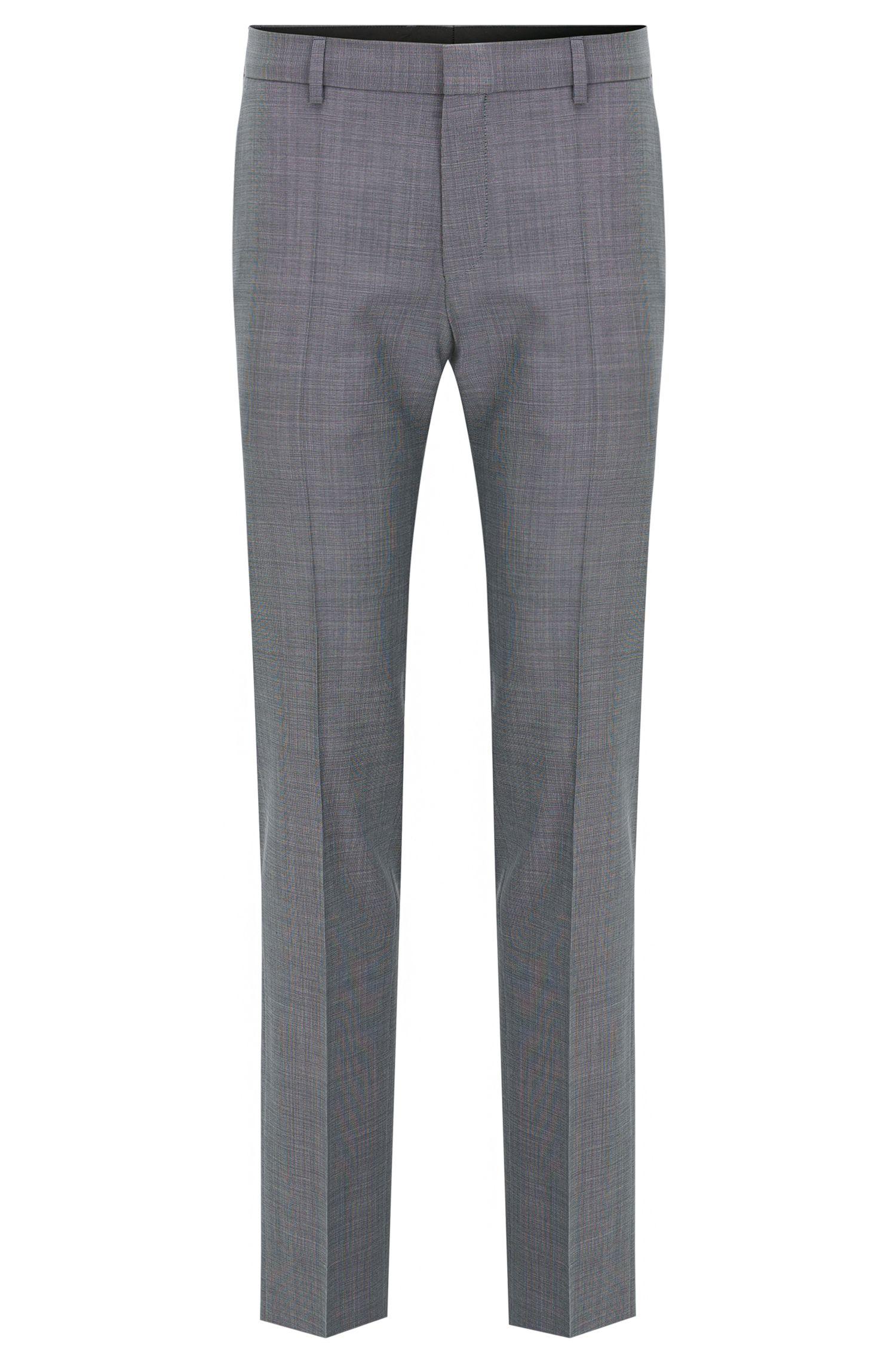 Pantalón slim fit en lana virgen fil a fil