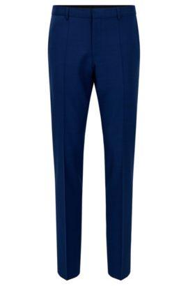 Slim-Fit Hose aus Schurwolle, Blau