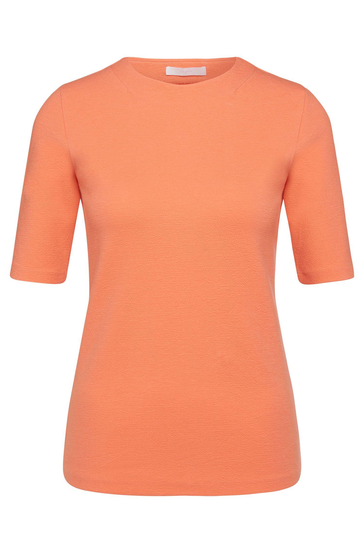 Top a mezze maniche in misto cotone elasticizzato: 'Eriane'