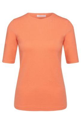 Top a mezze maniche in misto cotone elasticizzato: 'Eriane', Rosso chiaro