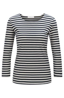 Striped shirt in stretch cotton: 'Emmisa', Patterned