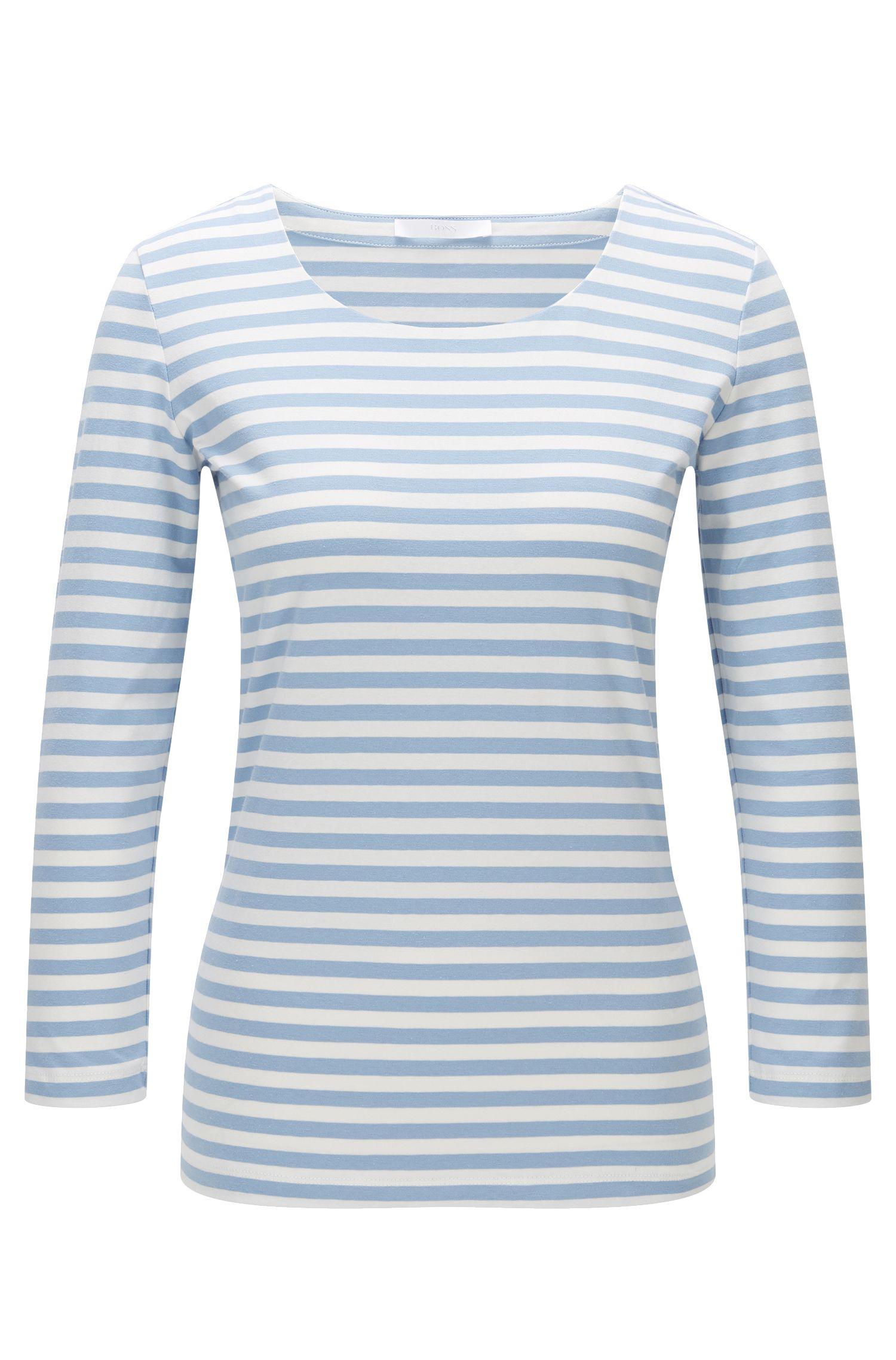 Camiseta a rayas en algodón elástico: 'Emmisa'