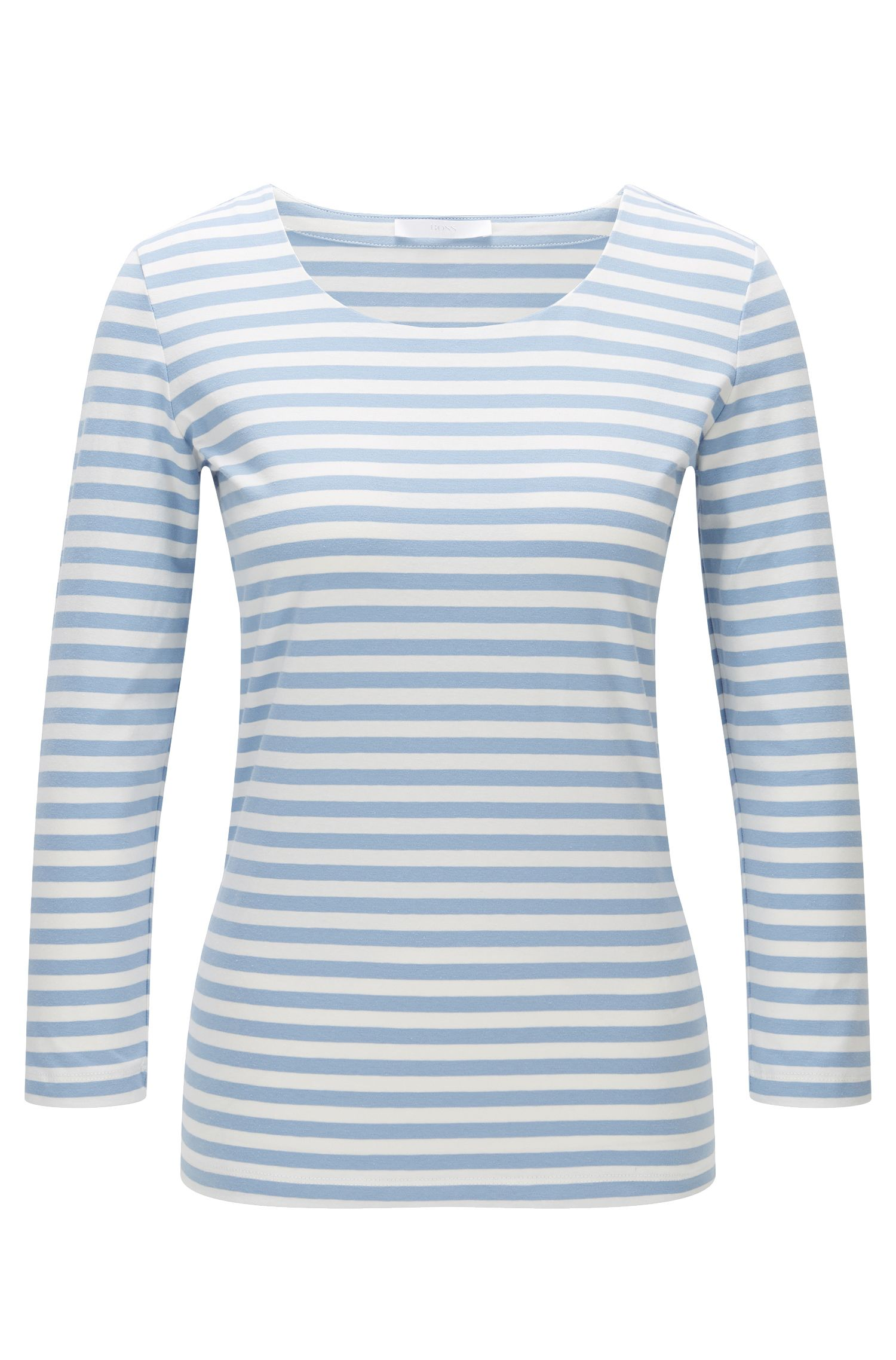 Gestreiftes Shirt aus Stretch-Baumwolle: 'Emmisa'