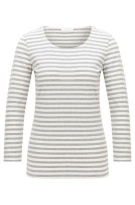 Camiseta a rayas en algodón elástico: 'Emmisa', Fantasía