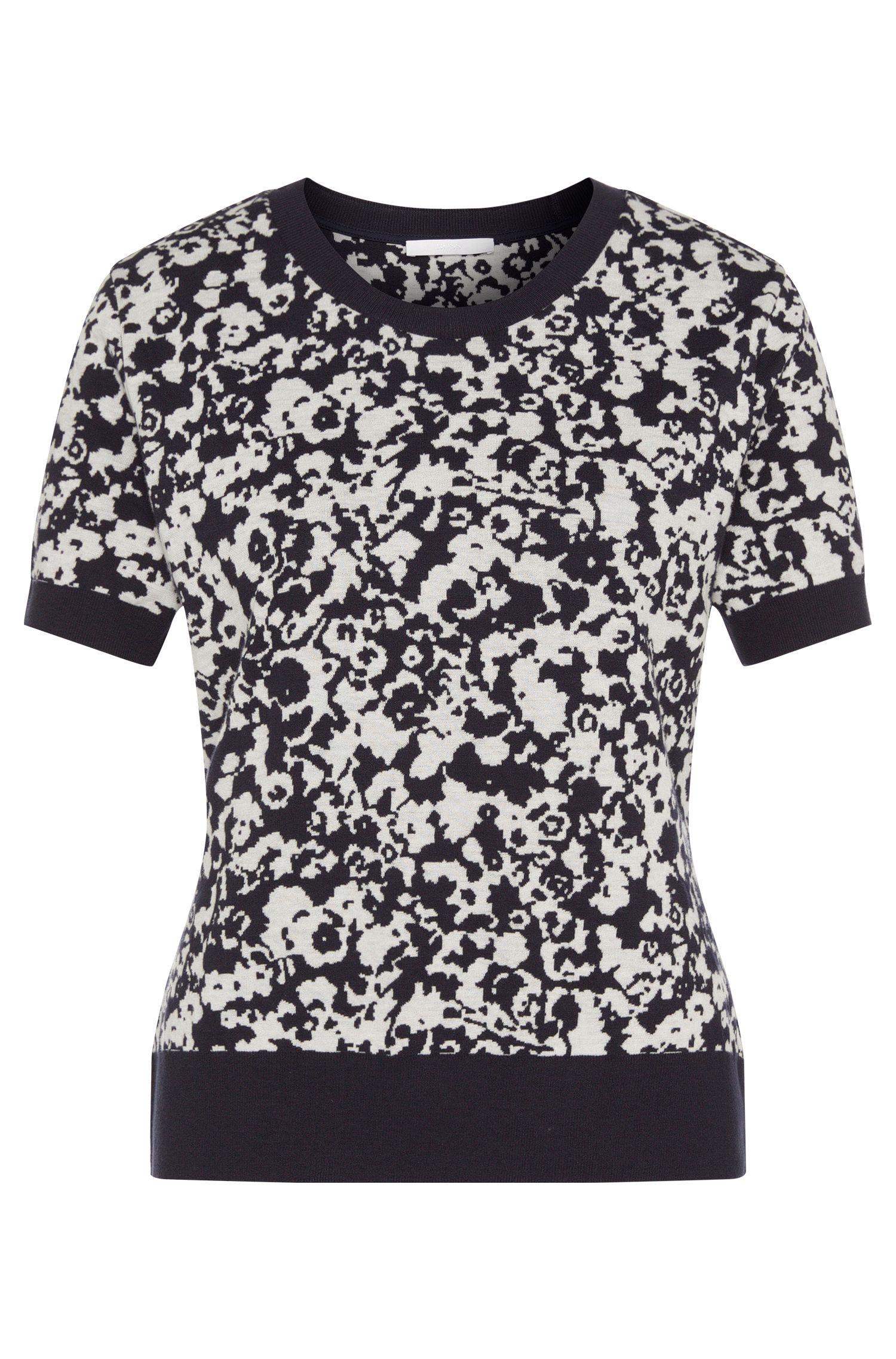 Camiseta de punto estampada en mezcla de algodón con viscosa: 'Emkira'