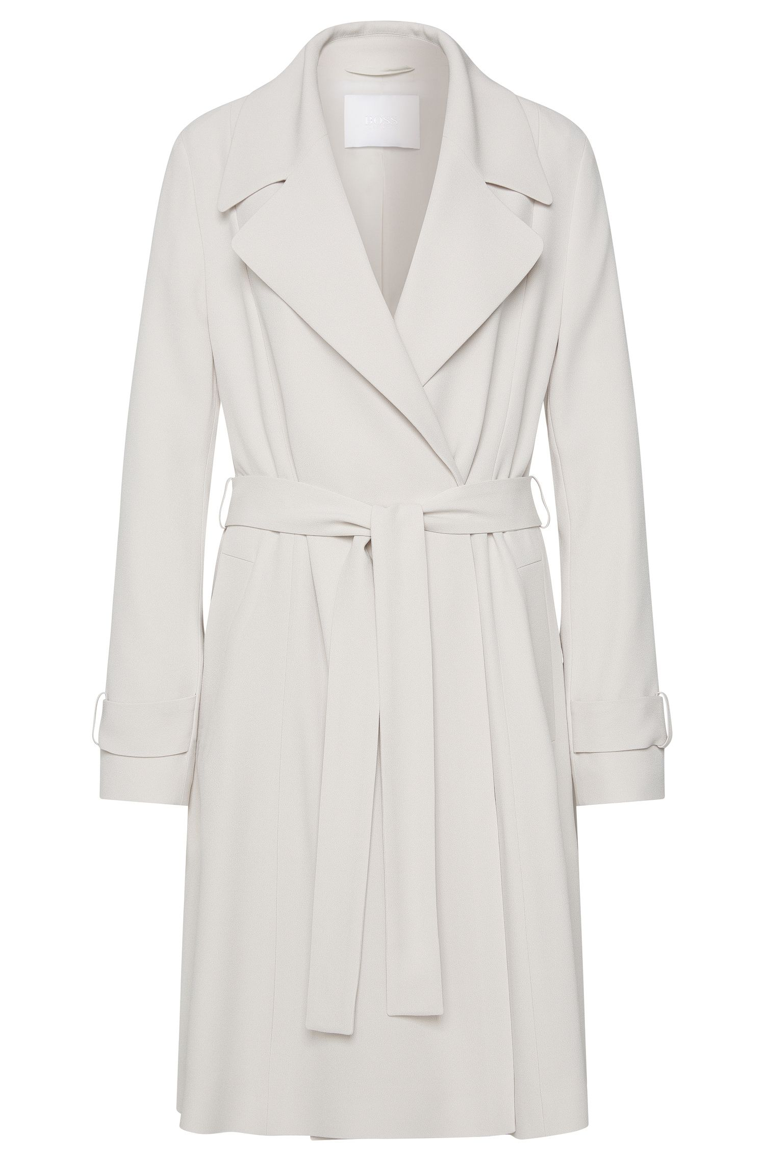 Lightweight coat with wrap belt: 'Cafyna'