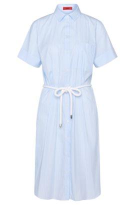 Lange blouse van een elastische katoenmix: 'Efria', Lichtblauw