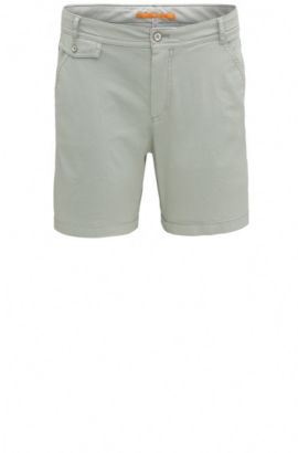 Chino Relaxed Fit en coton extensible : « Sochina-D », Kaki