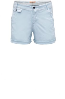 Chino Relaxed Fit en coton extensible : « Sochina-D », Bleu vif