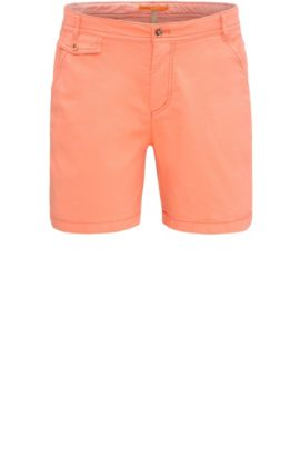 Relaxed-fit chino shorts in stretch cotton: 'Sochina-D', Orange
