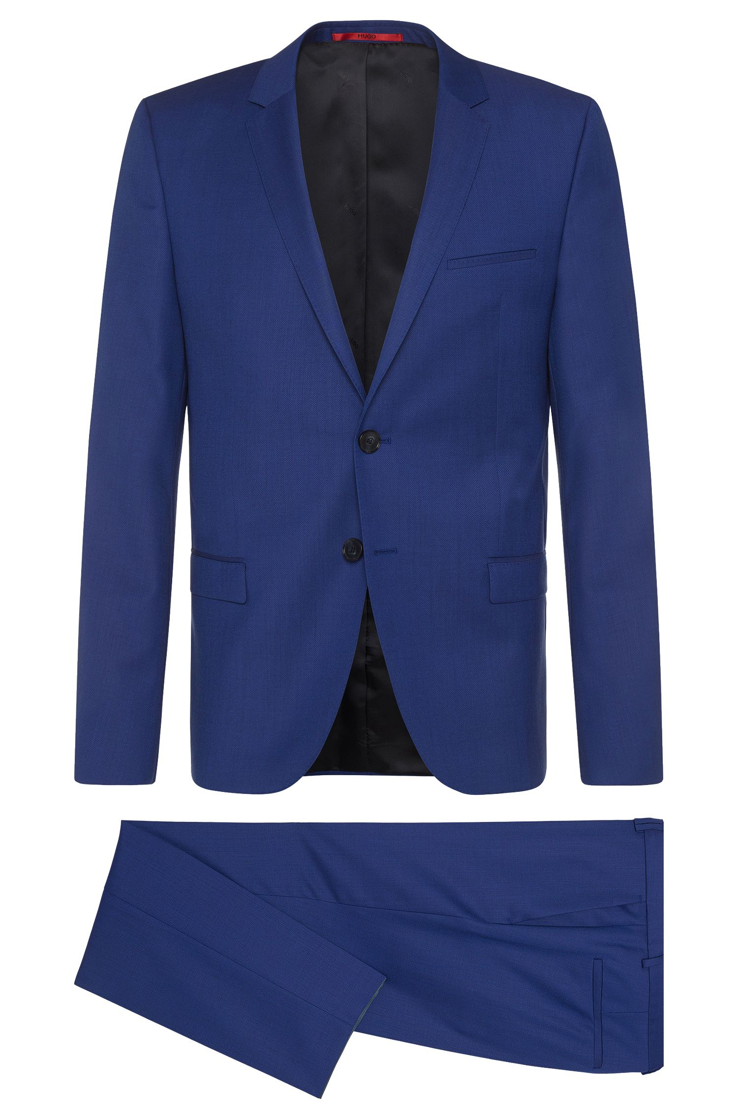 Slim-Fit Anzug aus strukturierter Schurwolle: 'Arti/Heilon'