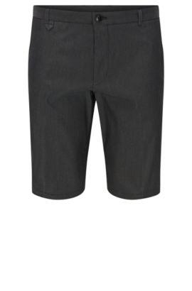 Pantaloncini corti slim fit a pois in misto cotone: 'Hano3', Grigio scuro