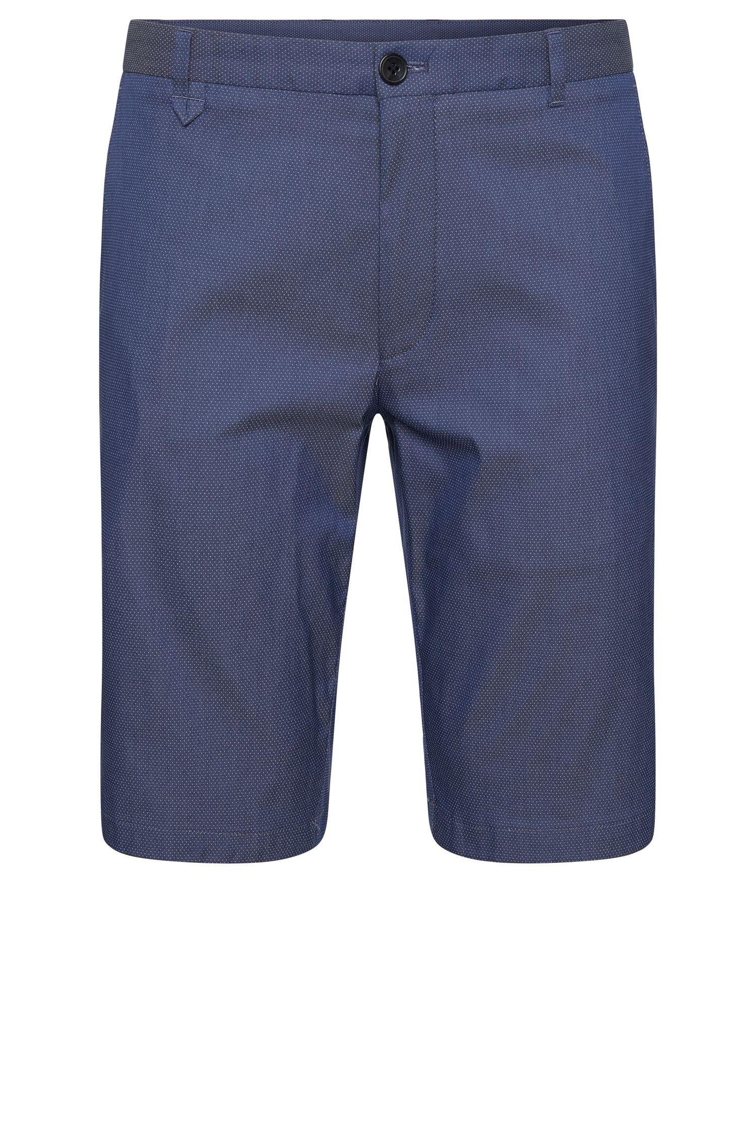 Gepunktete Slim-Fit Shorts aus Baumwoll-Mix: 'Hano3'