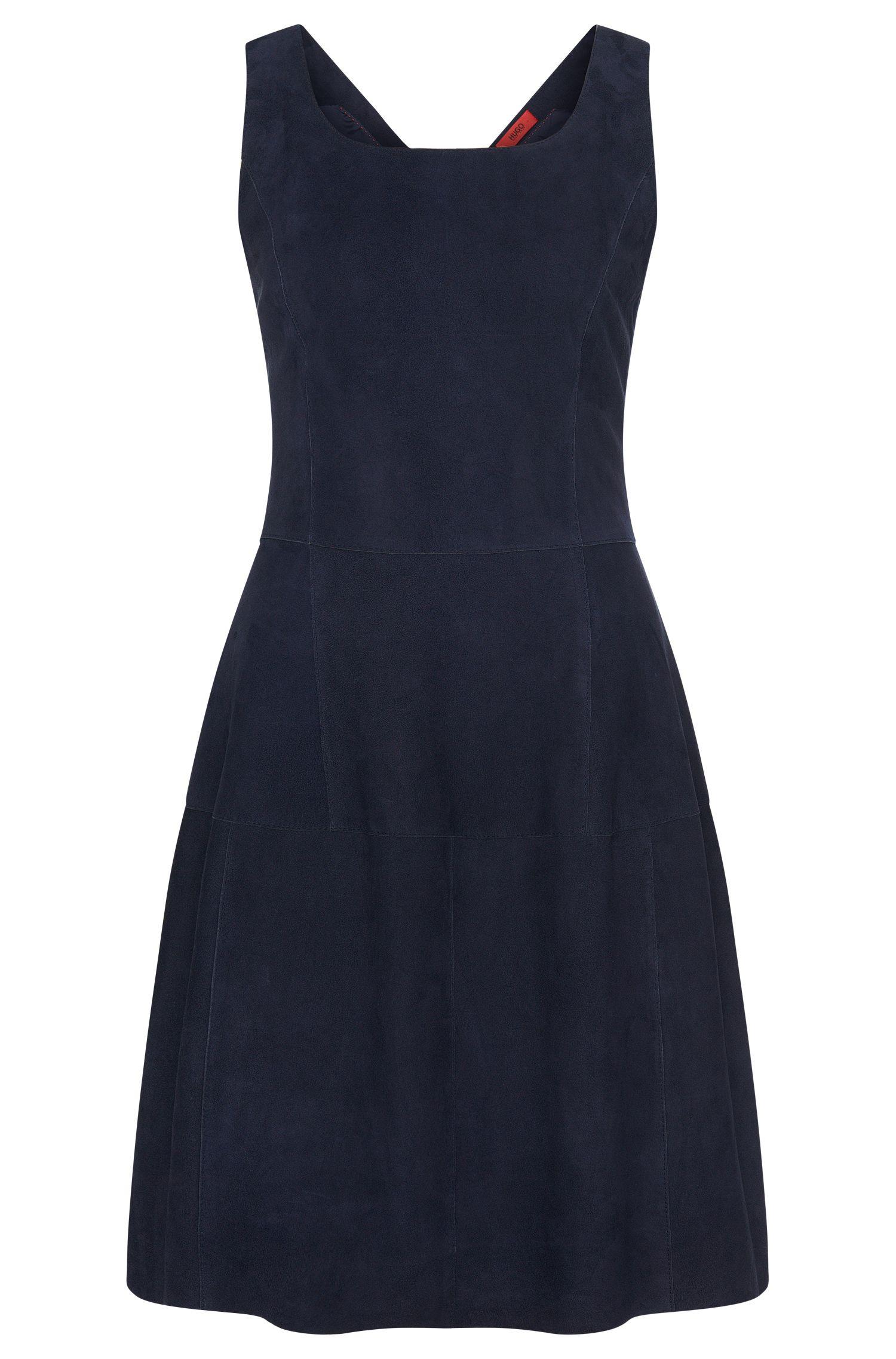 Leren jurk in patchworkstijl: 'Limanu'