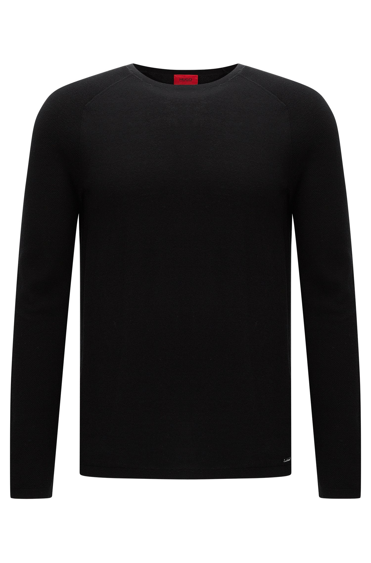Relaxed-fit sweater in textured cotton: 'Sider'