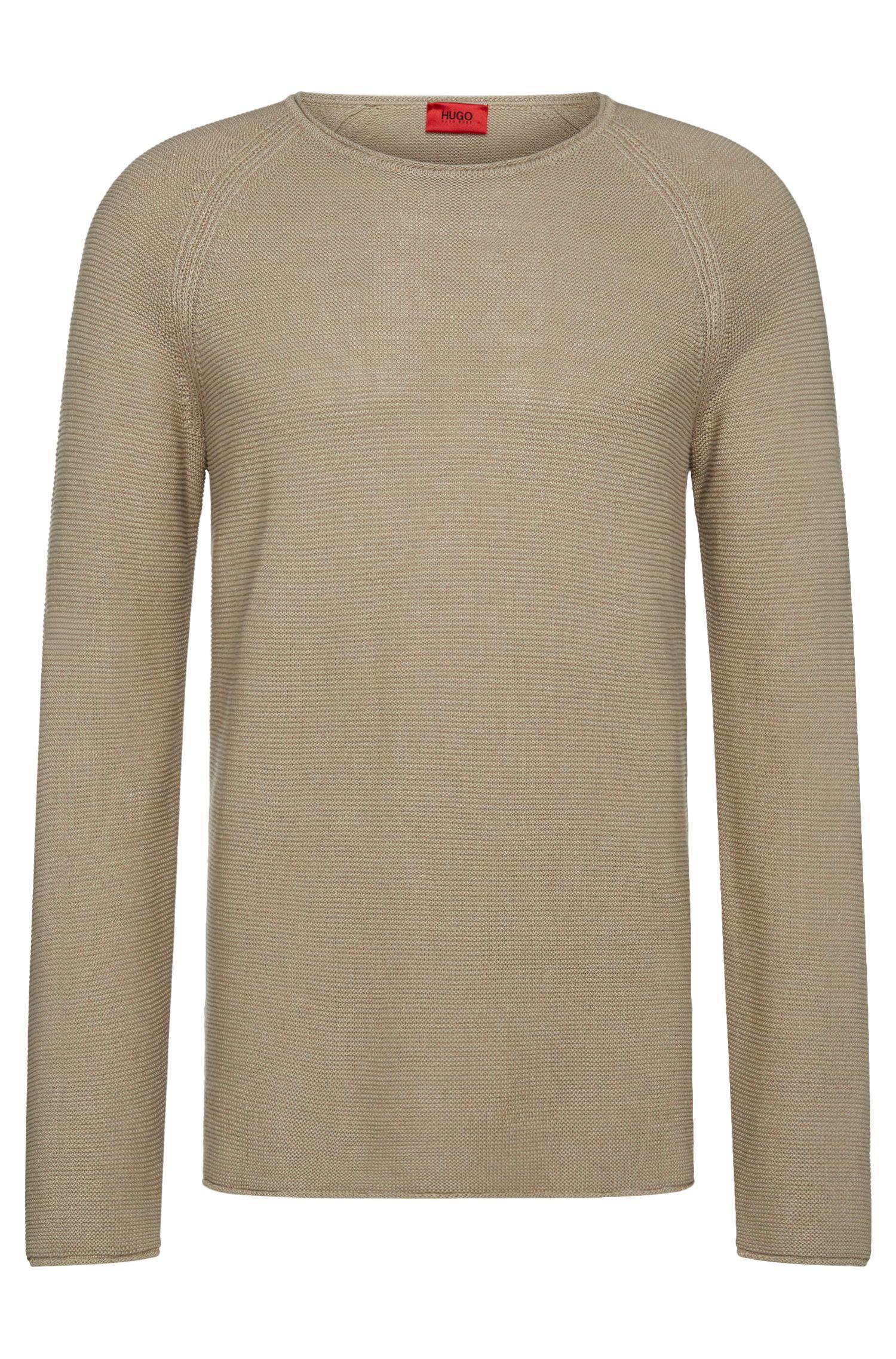 Jersey relaxed fit en mezcla de lino con algodón: 'Soler'