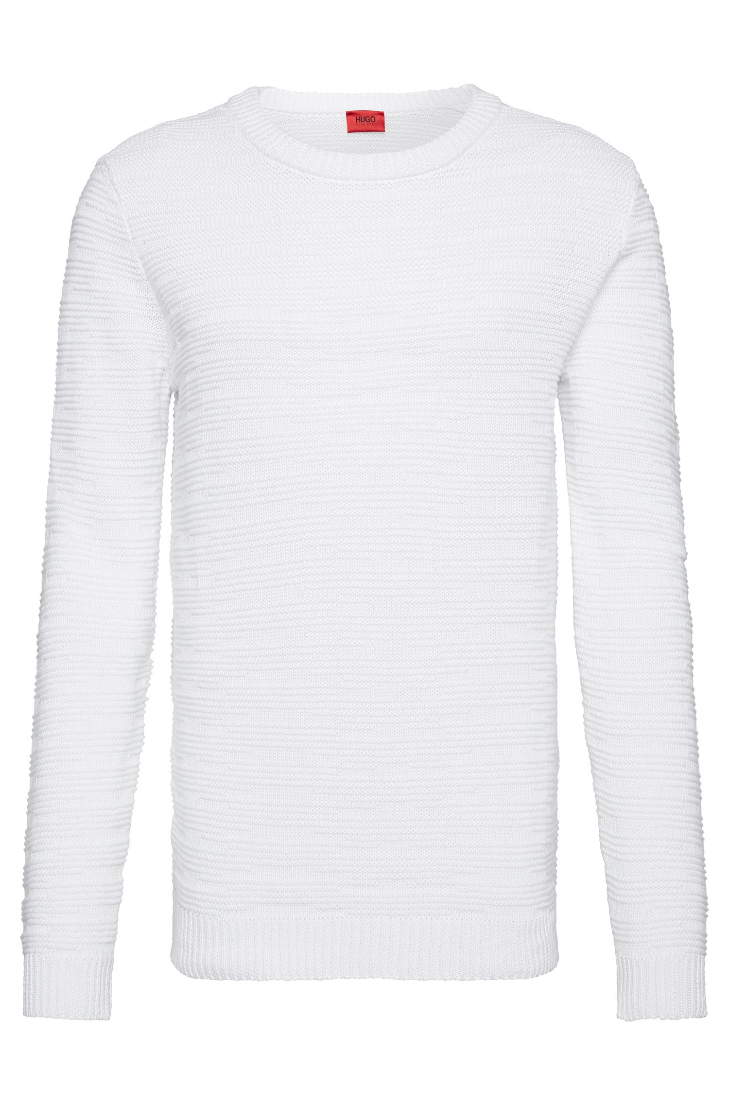 Oversized-fit sweater in linen blend with cotton: 'Soleron'