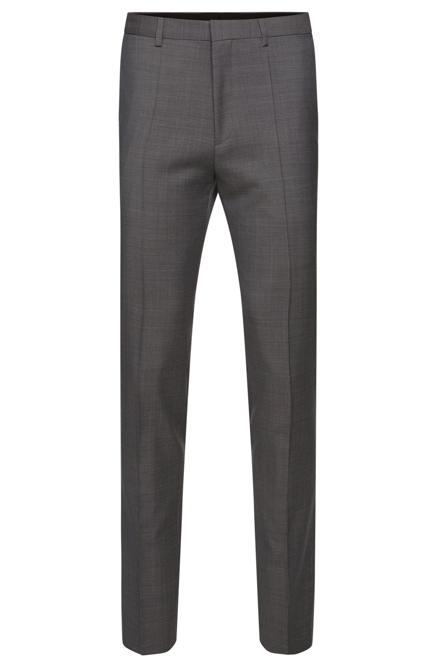 Extra slim-fit trousers in finely textured new wool: 'HerioS'