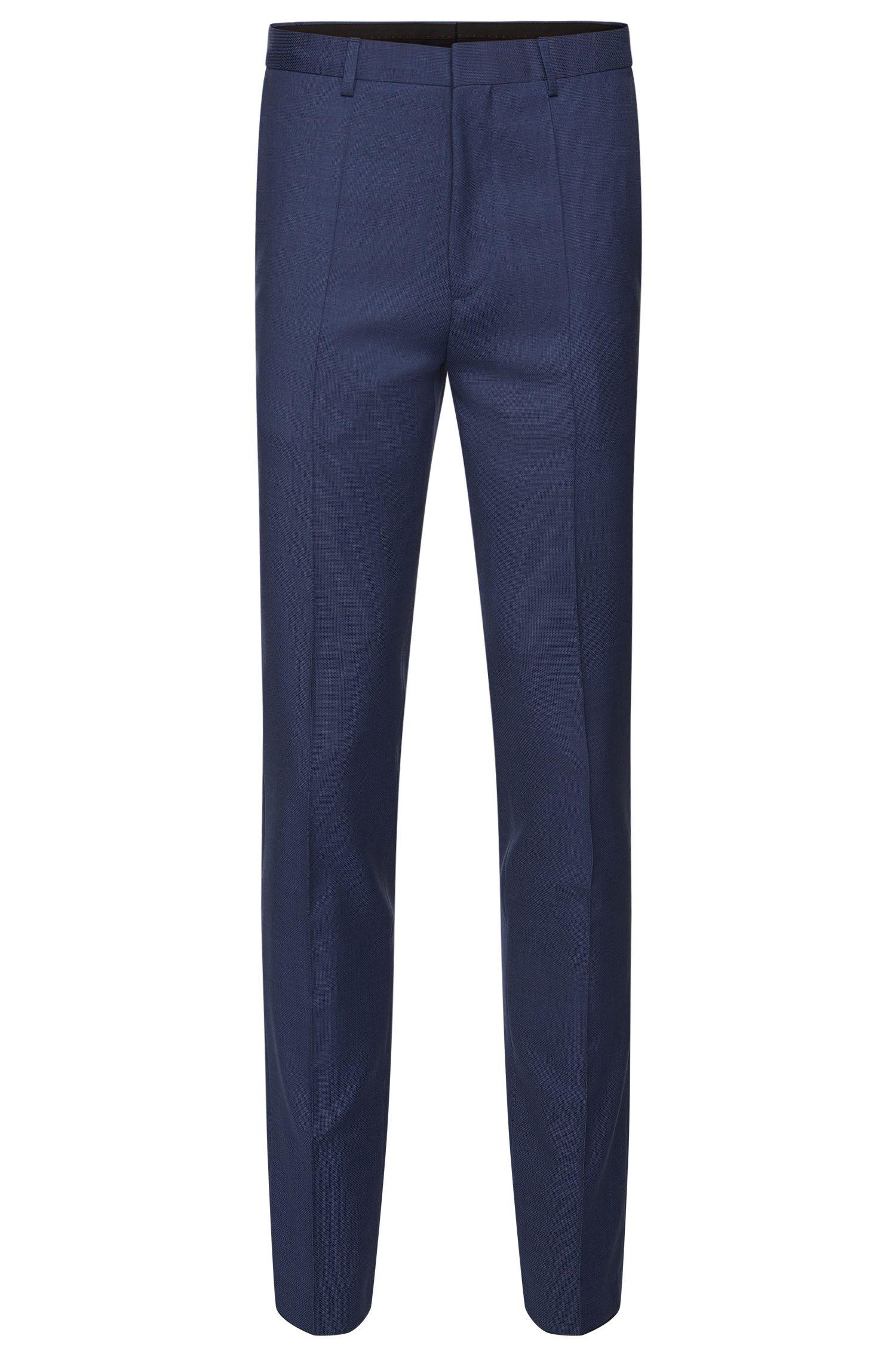 Pantalon Extra Slim Fit en laine vierge finement structurée: «HerioS»