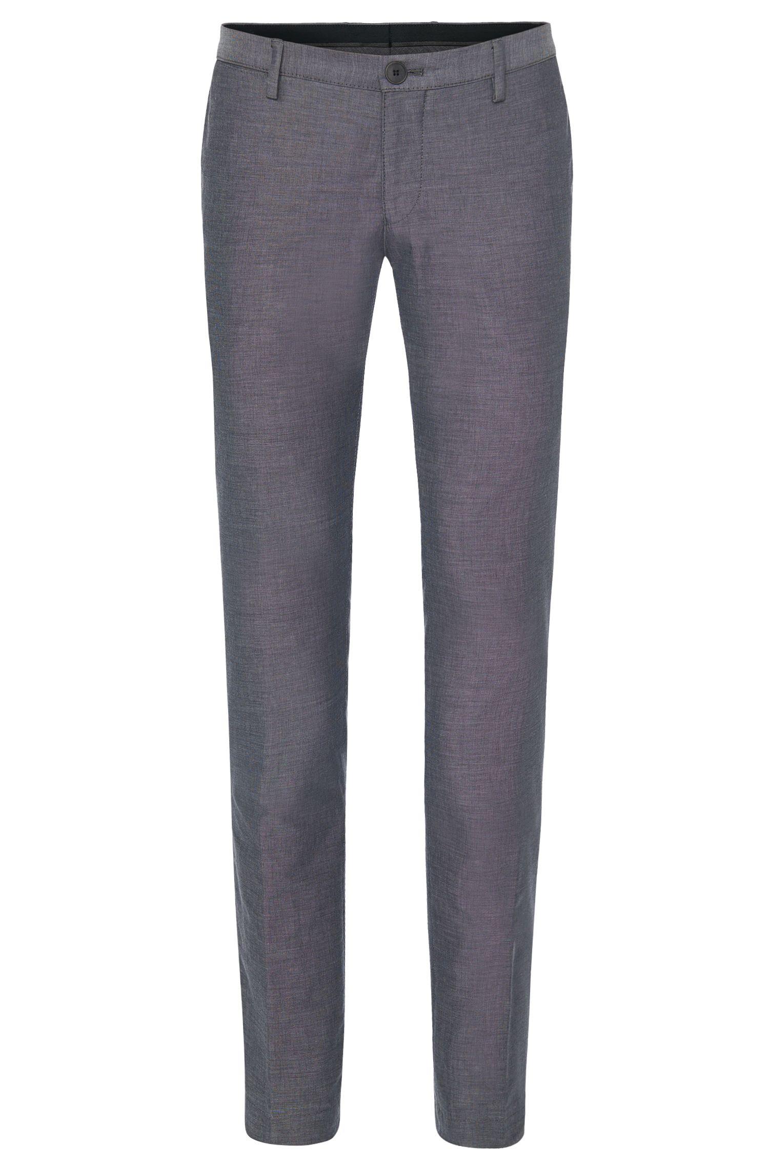 Chinos slim fit con estampado elegante en algodón: 'Stanino 16-W'