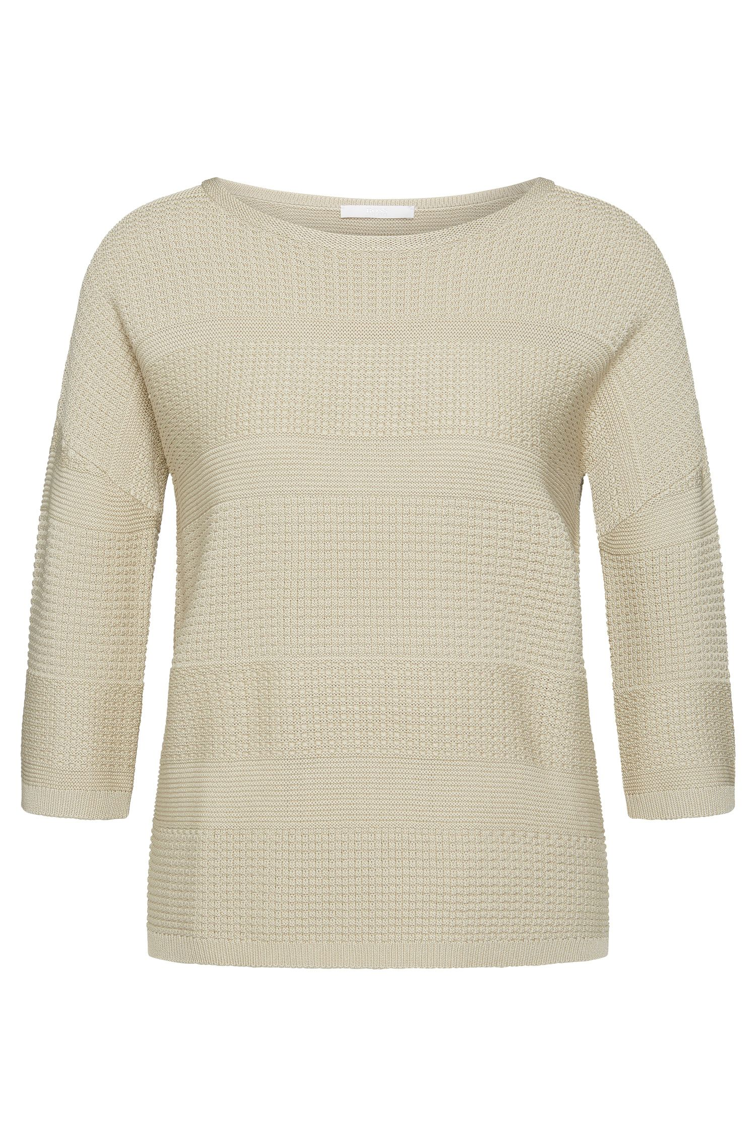 Straight-cut sweater in viscose blend with cotton: 'Fiammetta'